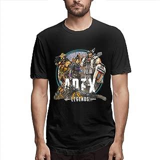Syins Men Customized Apex Legends Dock Icon Short Sleeve Funny T-Shirt Black