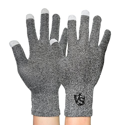 Vital Salveo – Full finger recupero guanti touchscreen per iPhone, iPad, HTC altri telefoni e tablet (coppia) Grey small