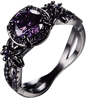 RongXing Jewelry Trendy Womens Purple Cz...