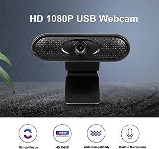 Anonyme Webcam HD 1080p Camera USB Web Cam MIC Clip-on for Computer Laptop Web Camera 360 Degree USB Camera Black 1080P