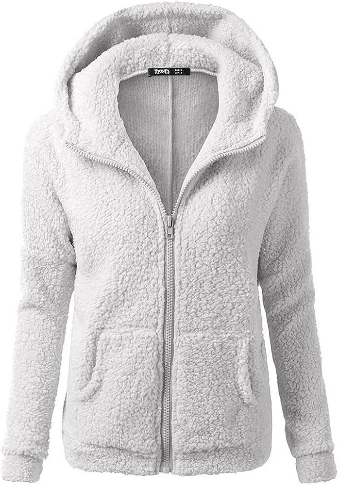 Women Fleece Hoodies with Zipper Comfortable Long Sleeve Lightweight Sports Sweatshirts Hoodie with Kanga Pocket