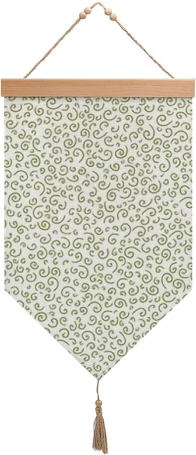 Houston Mall Small Ammonite Texture Moss On White Regular discount And With Cotton Flags Linen