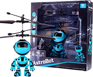 Wandisy Robot Flying Toys, Cute USB Charging Hand Induction Robot Suspension Aircraft Children Toy