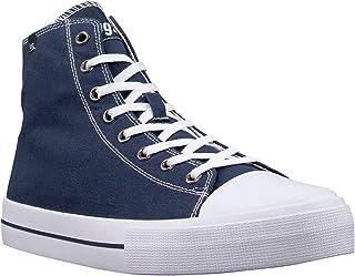 Lugz Women's Stagger Hi Fashion Sneaker, Navy/White, 8