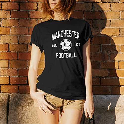 Manchester UK Away Kit World Classic Soccer Football Arch Cup T Shirt - 2X-Large - Black