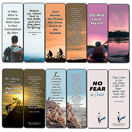 Popular Bible Verses for Men Bookmarks KJV (12-Pack) - Popular Verses to Ponder