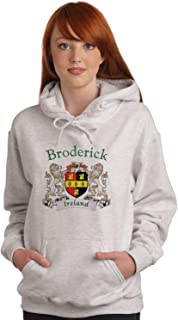 Broderick Irish Coat of Arms Ash Hooded Sweat shirt