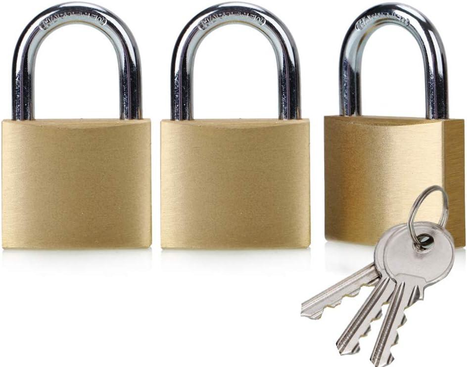 Solid Brass Same Overseas 5 ☆ very popular parallel import regular item Keyed lock-3pack keyed Padlock Alike