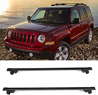 OCPTY Roof Rack Cross Bar Cargo Carrier Fit for 1999-2004 Jeep Grand Cherokee Sport Utility,2007-2011 Jeep Patriot Sport Utility Adjustable 50†Roof Rack Crossbars