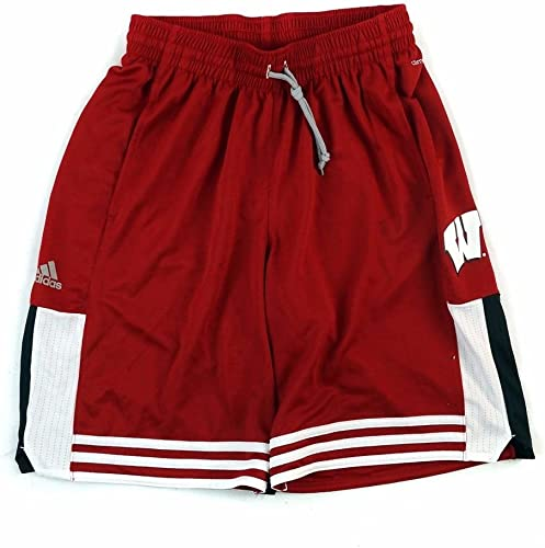 Adidas Wisconsin Badgers Adulte Perforhommece courte en Tricot