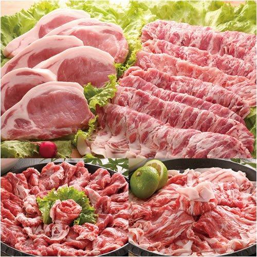 瀬戸のもち豚 せと姫 たっぷりセット!(しゃぶしゃぶ肉1kg、ステーキ6枚)