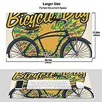 人気lsd - Albert Hofmann - Bicycle Day (2) ワイヤレス マウスパッド 耐久性が良い 防水 滑り止めゴム底 ゲーム オフィス 多機能 マウスパッ