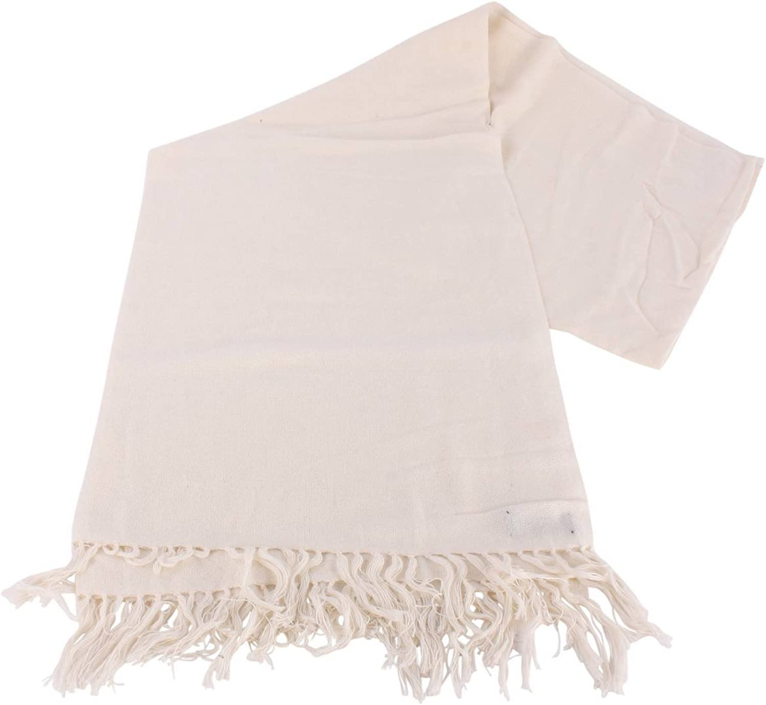 Bassin and Brown Womens Grant Plain Scarf  Cream