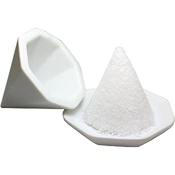 神棚の里 【盛塩セット】八角盛り塩セット 小/素焼き八角皿5枚付き - ホワイト
