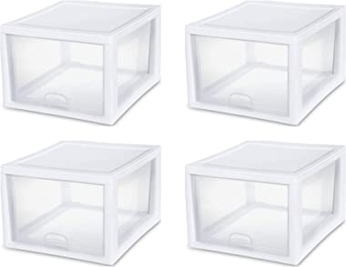 STERILITE 2310 Stackable Storage Drawer, Pack of 4 (4)