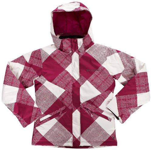 Columbia - Running-Jacken für Jungen in Mehrfarbig - Raspberry/Raspberry Gingham, Größe Size 10/12