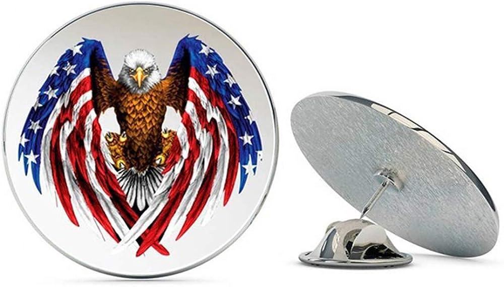 NYC Jewelers American Flag Bald Eagle Patriotic Metal 0.75