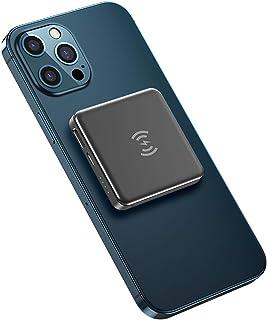 5000mAH QI Trådlös laddare Power Bank, USB PD Snabb laddning PowerBank Portable Extern batteriladdare för telefon,Gray