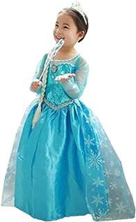 abc784c3b24f0 ELSA   ANNA® Filles Reine des Neiges Princesse Partie Costumée Déguisements  Robe de Soirée FR