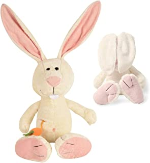 Plush Peek-A-Boo Bunny- Hide-and-Seek Game-Soft Rabbit with Carrot for Kids Toddlers, Stuffed Animal Toy -13 Inches(from Head to feet)