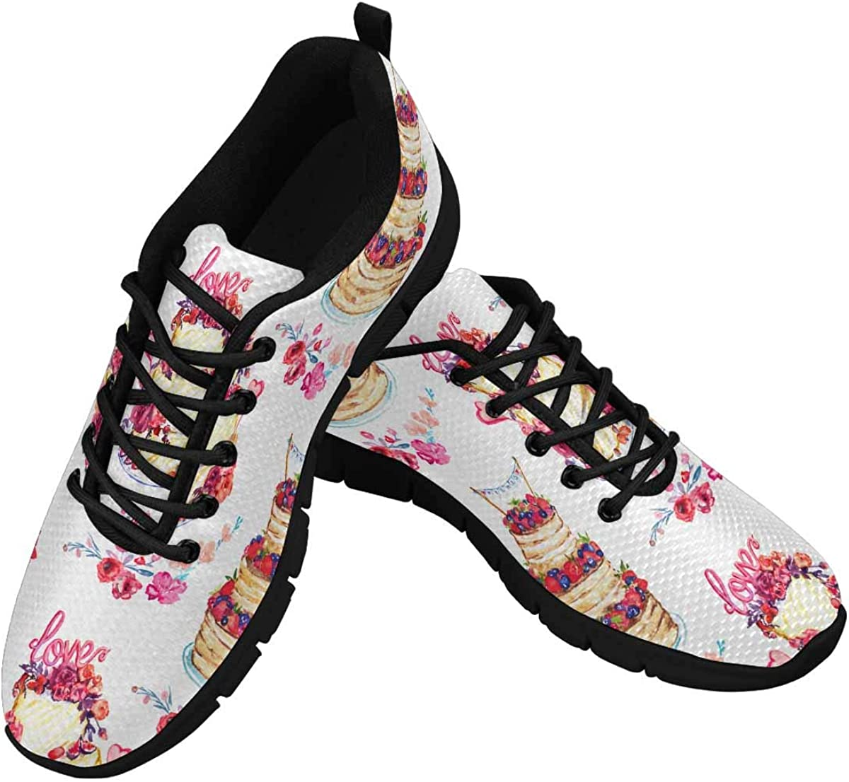 INTERESTPRINT Happy Birthday Women's Lace Up Running Comfort Sports Sneakers
