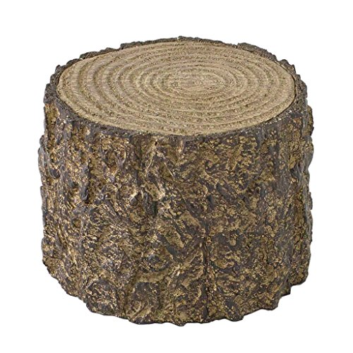 Time Concept Decorative Resin Stump Display - Small (4.33' x 3.35') - Tree Log Design, Home & Garden Decor, Multipurpose Rack