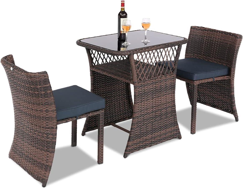 BPTD 3 Sale item Pieces Patio Outdoor Furniture Bistr Special Campaign Rattan Wicker PE Set