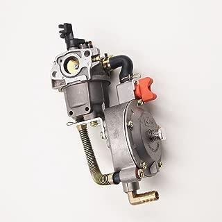 QUIOSS Carb Dual Fuel Carburetor LPG Conversion Kit 6.5HP 7.5HP Engine Fits Generator GX200 170F