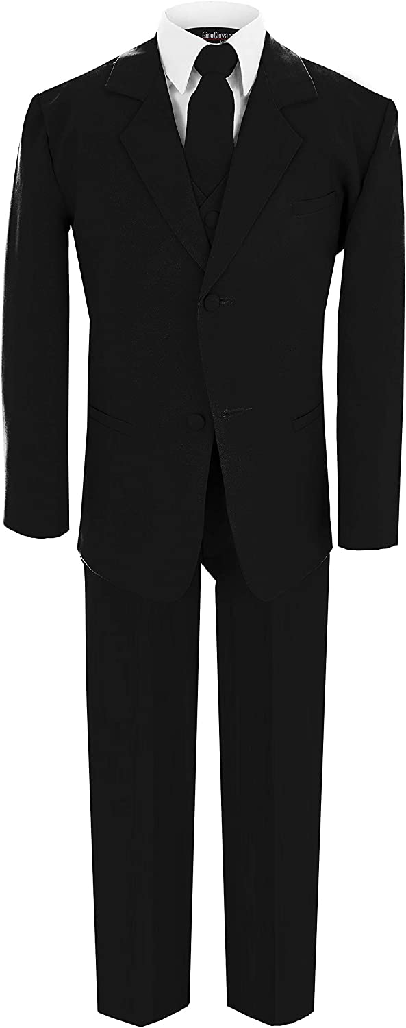 Gino Giovanni Wedding Boy Formal Suit Black Limited time trial price Under blast sales 5 Size