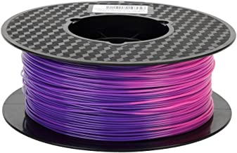 Color Changing Filament Purple Blue to Pink PLA Filament 1.75mm Color Changing Change with Temperature 3D Printer Filament 1KG Spool 2.2LBS 3D Printing Material CC3D Pen Filament Silk Gold Silve