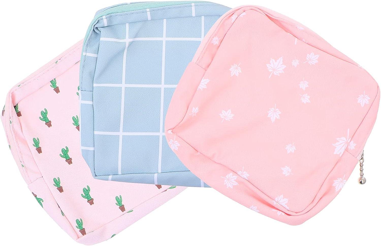 DOITOOL 3pcs Sanitary Napkin Tampons Bag Pouch Storage Tulsa Mall safety