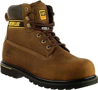 Cat Footwear Holton S3 HRO SRC, Chaussures de Travail Homme, Dark Brown, 47 EU
