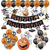 Hangarone Juego de globos para Halloween, DIY, kit de globos de papel de aluminio, con diseño de amapolas para decoración del hogar, fiestas
