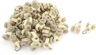 Plastic gordijnspoor drager diarol 14mm dia wiel 50 stuks beige
