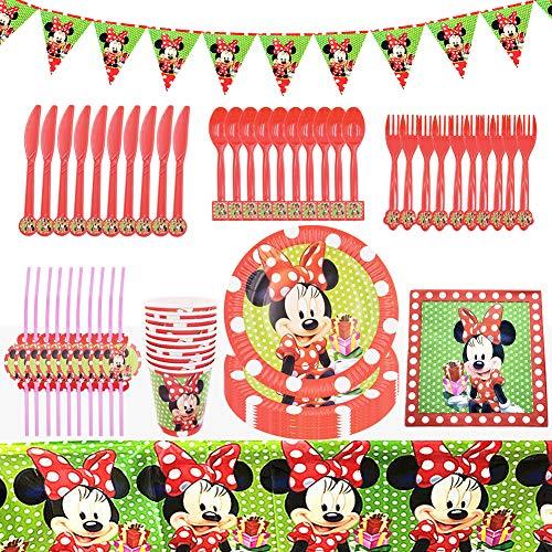 Set de Fiesta de Cumpleaños de Mickey, BESTZY 82PCS Cumpleaños Vajilla Set...