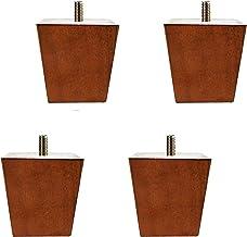 Set van 4 houten meubelen Bankpoten, massief houten tv-kastpoten, grenen trapeziumvormige theetafelpoten, vervangende voet...