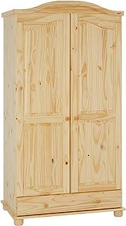 IDIMEX Armoire Bergen Dressing pour vêtements avec 2 Portes battantes penderie 1 Tringle et Rangement 1 étagère intérieure...