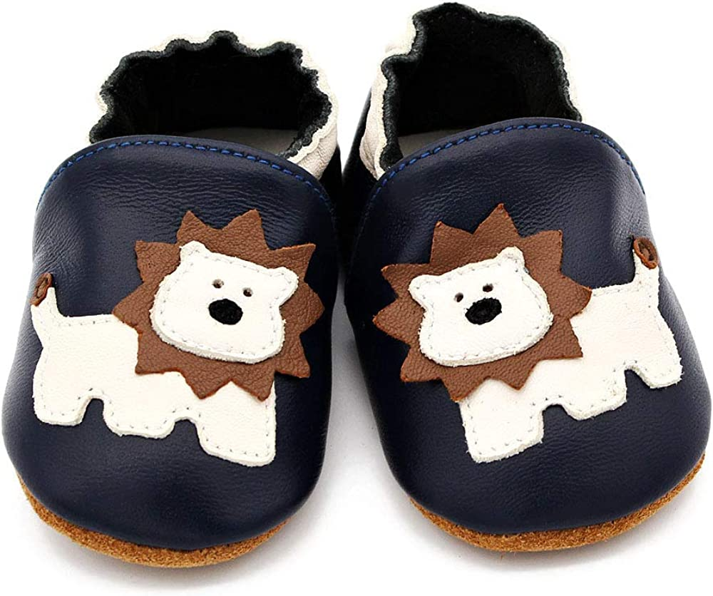 Baby Shoes Genuine Leather Soft Sole Boys for Girls Infant Toddler Moccasins Shoes Slippers First Walkers Non-Slip Crib Shoes 0-6 12 18 24 Months QCB1