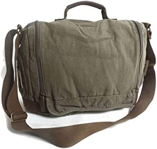 Casual Style Khaki Polo Canvas Man Bags Wholesale Fashion Appearance Shopping Business (Color : Brown, Size : S)