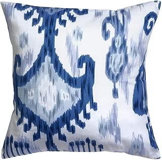 blue ikat throw pillows
