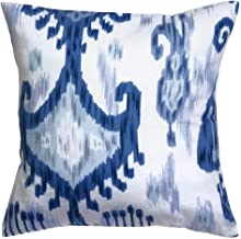 Decorative Pillows Throw Pillows Pillow Covers 18 Inch Square Cover Waverly Blue & White Ikat