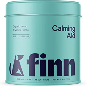 Finn Calming Chews for Dogs - Natural Calming Treats with Melatonin to Help with Stress, Separation Anxiety & Sleep - Vet Recommended & Made in The USA