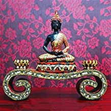 PPCP The Pioneer of Thai Buddha Sculpture Wisdom and Wealth is Used As Feng Shui, Home Decoration Display, 36×9×32.5cm