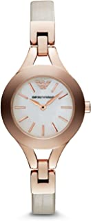 Emporio Armani Nude Leather & Stainless Steel Watch AR7354