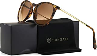 SUNGAIT Vintage Round Sunglasses for Women Classic Retro...