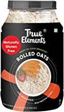True Elements Rolled Oats 1.2 kg - Gluten Free Oats, Healthy Breakfast Cereal, Super Saver Pack
