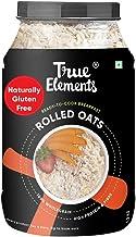 True Elements Rolled Oats 1.2 kg - Gluten Free Oats, Healthy Breakfast Cereal, Diet Food, Super Saver Pack