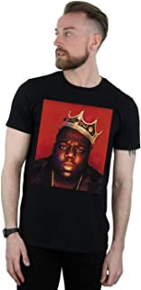 Notorious BIG Men's Face Crown T-Shirt Black XX-Large