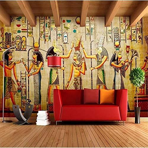 Retro Europäische Menschen Pharao Von Ägypten Pyramiden 3D Wandbild Tapeten Wandbild Hintergrundbild Fototapete Fototapete Bar Ktv Persönlichkeit