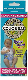 Sponsored Ad - Happi Tummi Baby Gas Relief All Natural Belly Wrap Natural Herbal Aroma Therapy Relief For Infants and Babi...